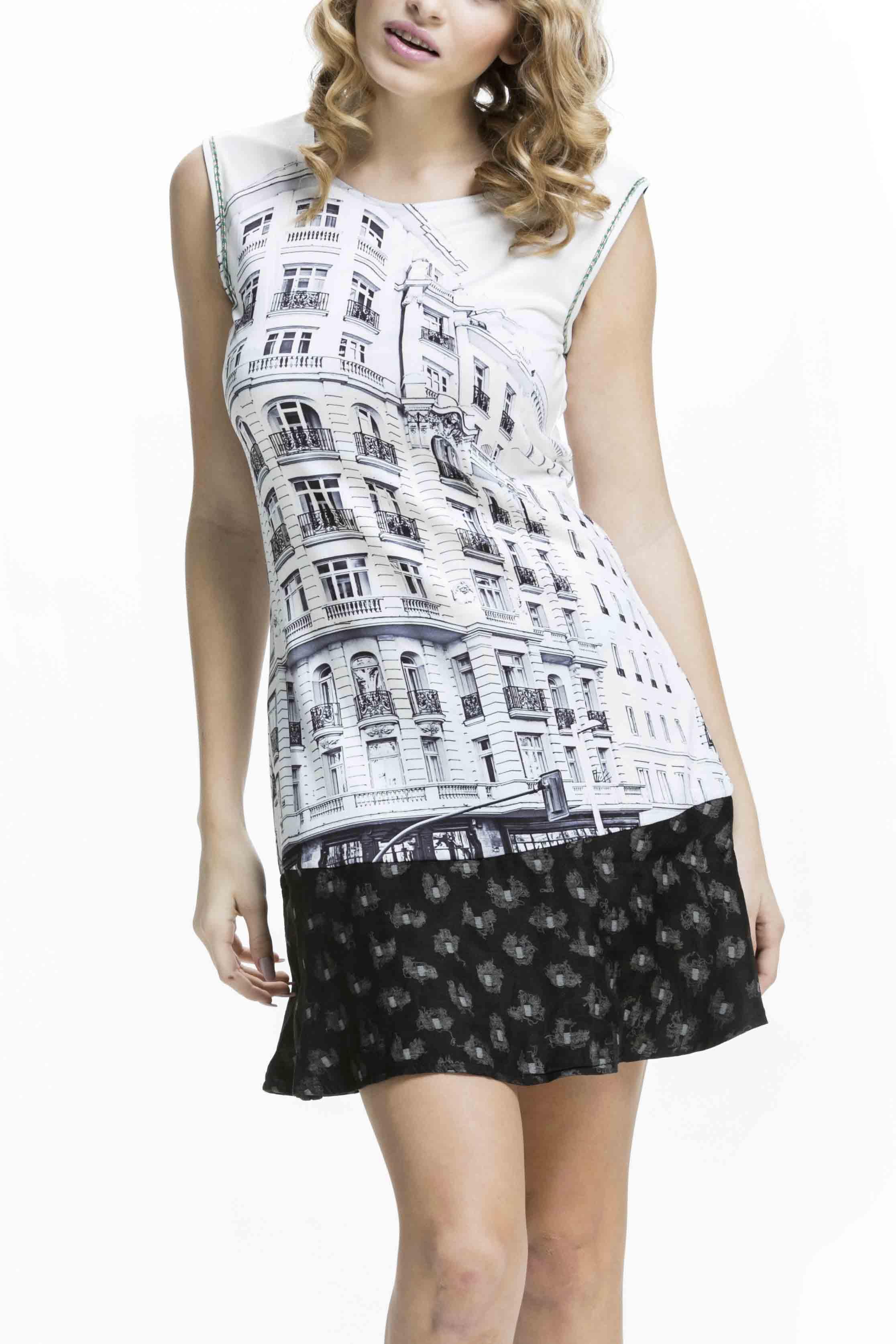Krásné dámské šaty Culito from Spain s motivem hlavní města