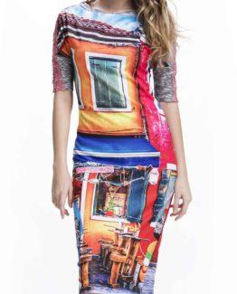 Originálnídámské šaty Culito from Spain s motivemrestaurace