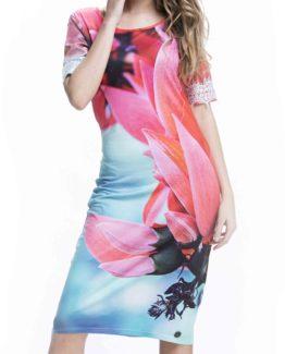 Romantickédámské šaty Culito from Spain s květinou