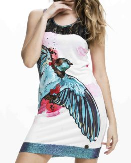 Zajímavédámské šaty Culito from Spain s motivem dravce