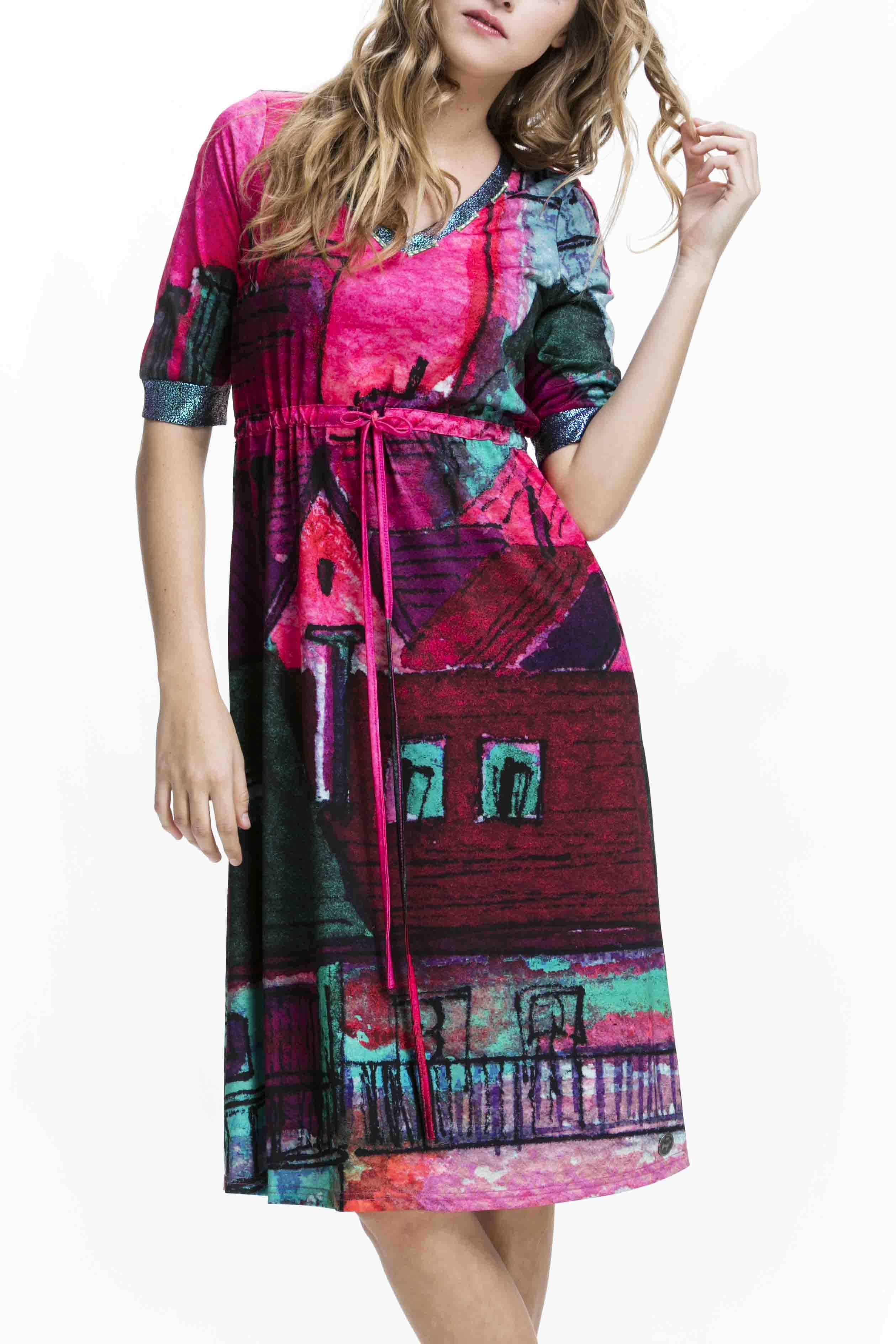 Netradičnídámské šaty Culito from Spain s motivem dravce
