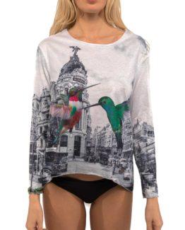 Stylovédámské tričko Culito from Spainz kolekce podzim/zima 2017 ve stříbrném provedení