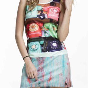 Stylové letní šaty Culito from Spain s barevnými telefony