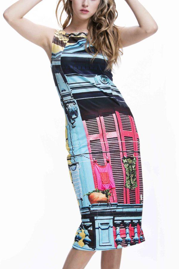 Luxusnídámské šaty Culito from Spain v pestrobarevném provedení