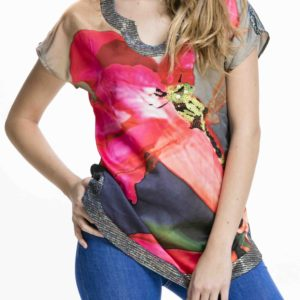 Nadčasové dámské triko Culito from Spain s motivem vážky
