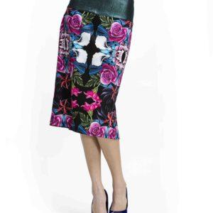 Originální dámská sukně Culito from Spain s květinovými motivy