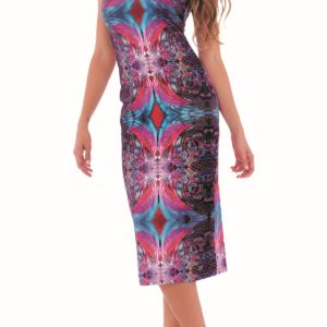 e6fc866099b ... V těchto luxusních šatech Culito from Spain budete zářit jako hvězda!  Culito from Spain barevné šaty ...