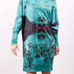 Vdámských šatech Culito from Spainbudete za lvici salónů!Jsou z kolekce podzim/zima 2017 a zdobí je motiv roztomilých lvíčat.