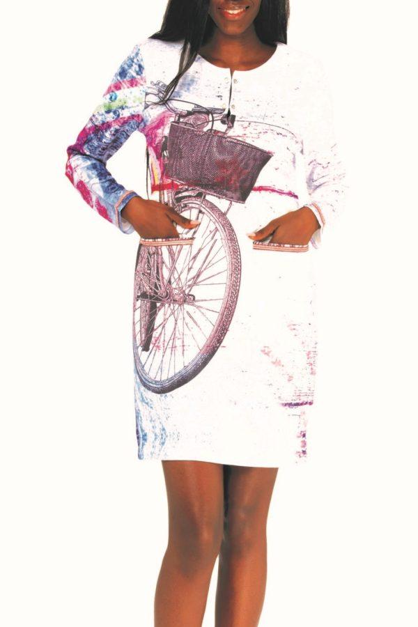 Originální a pohodlné jsou tyto dámské šaty Culito from Spain s motivem kola. Mají volný střih